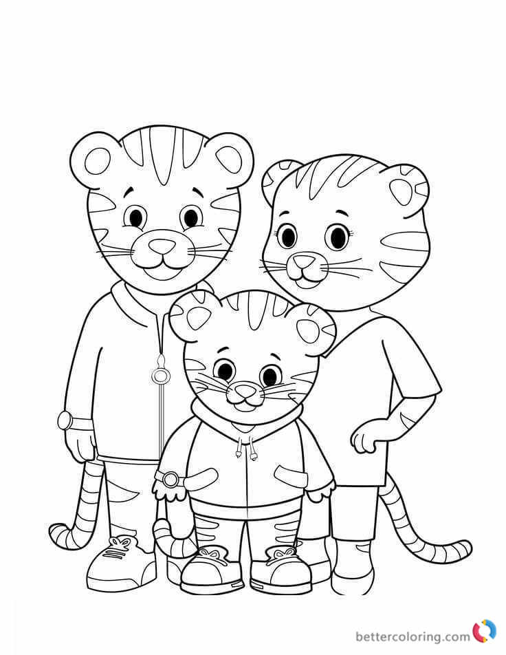 Printable Daniel The Tiger Coloring Pages