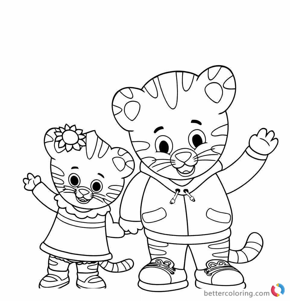 Printable Tiger Daniel Coloring Pages