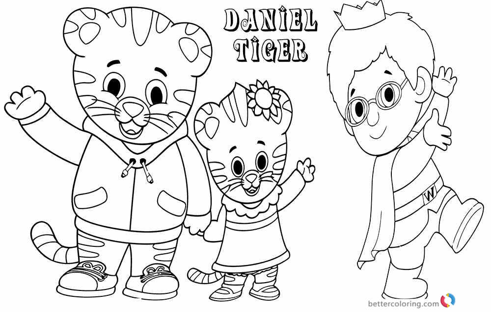 Tiger Daniel Coloring Pages - Free Printable Coloring Pages