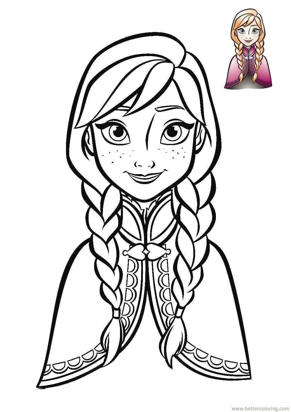 Frozen Coloring Pages Anna Face : Disney anna frozen face coloring pages printable for