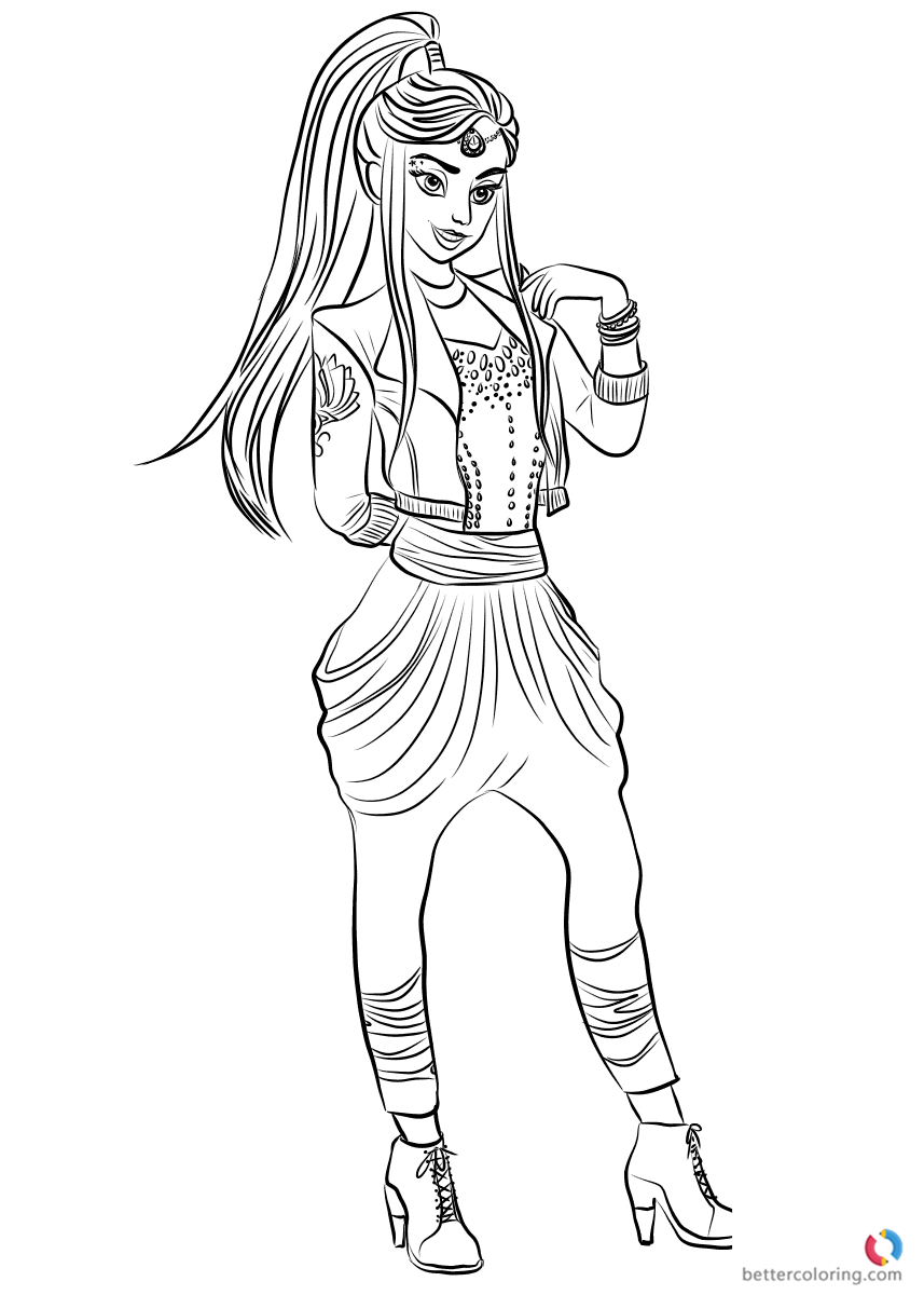 Wicked World Jordan Descendants 2 coloring pages printable