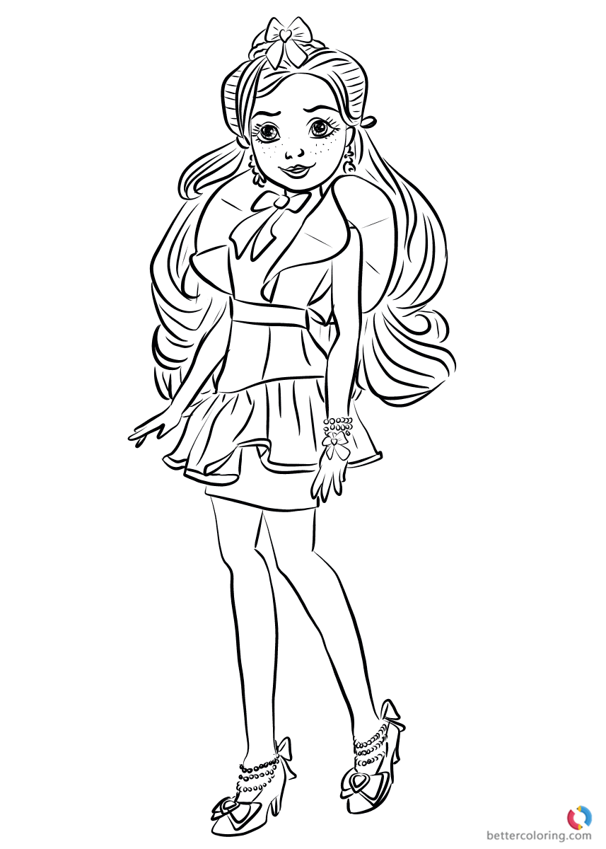 descendants evie coloring pages | Jane Wicked World from Descendants 2 Coloring Pages ...