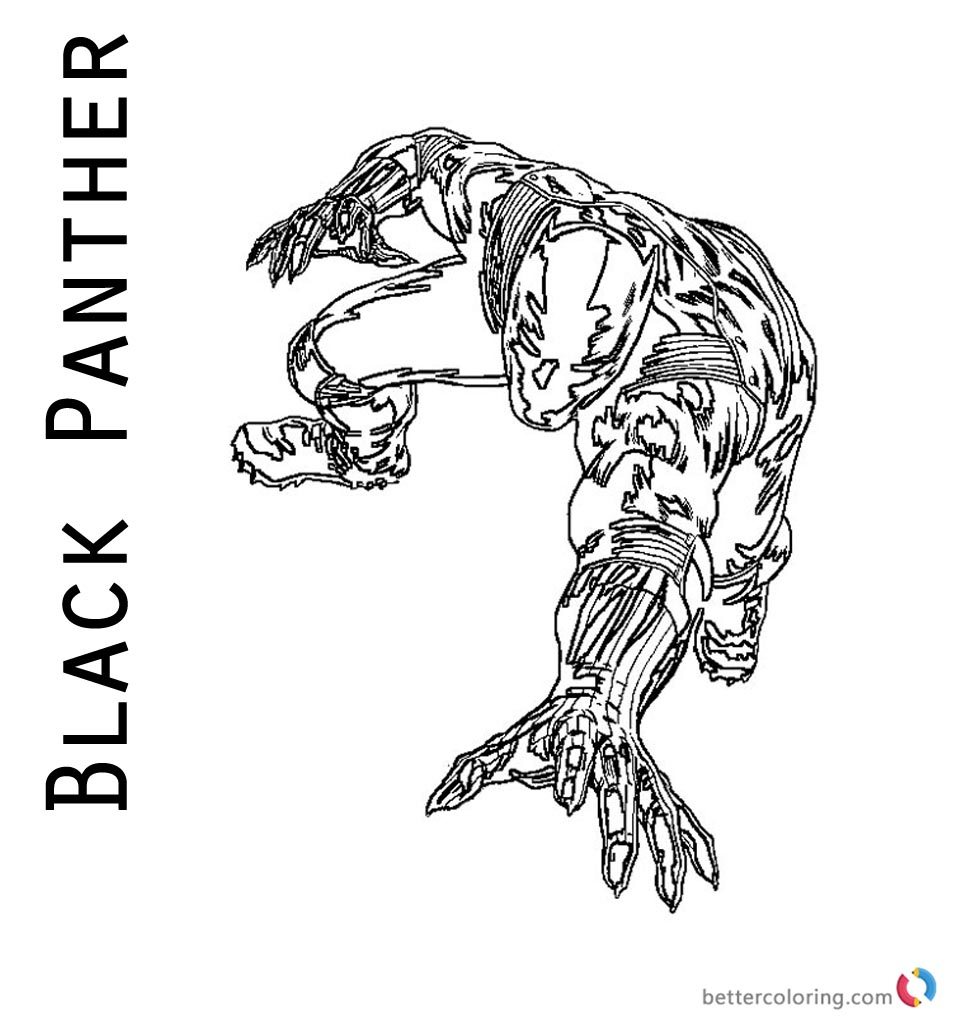 Cool Marvel Black Panther Drawing Coloring Page - Free ...