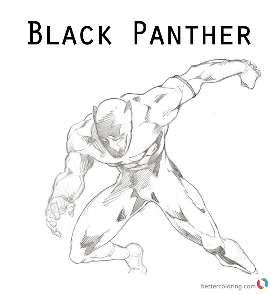black panther superhero coloring pages - photo#16