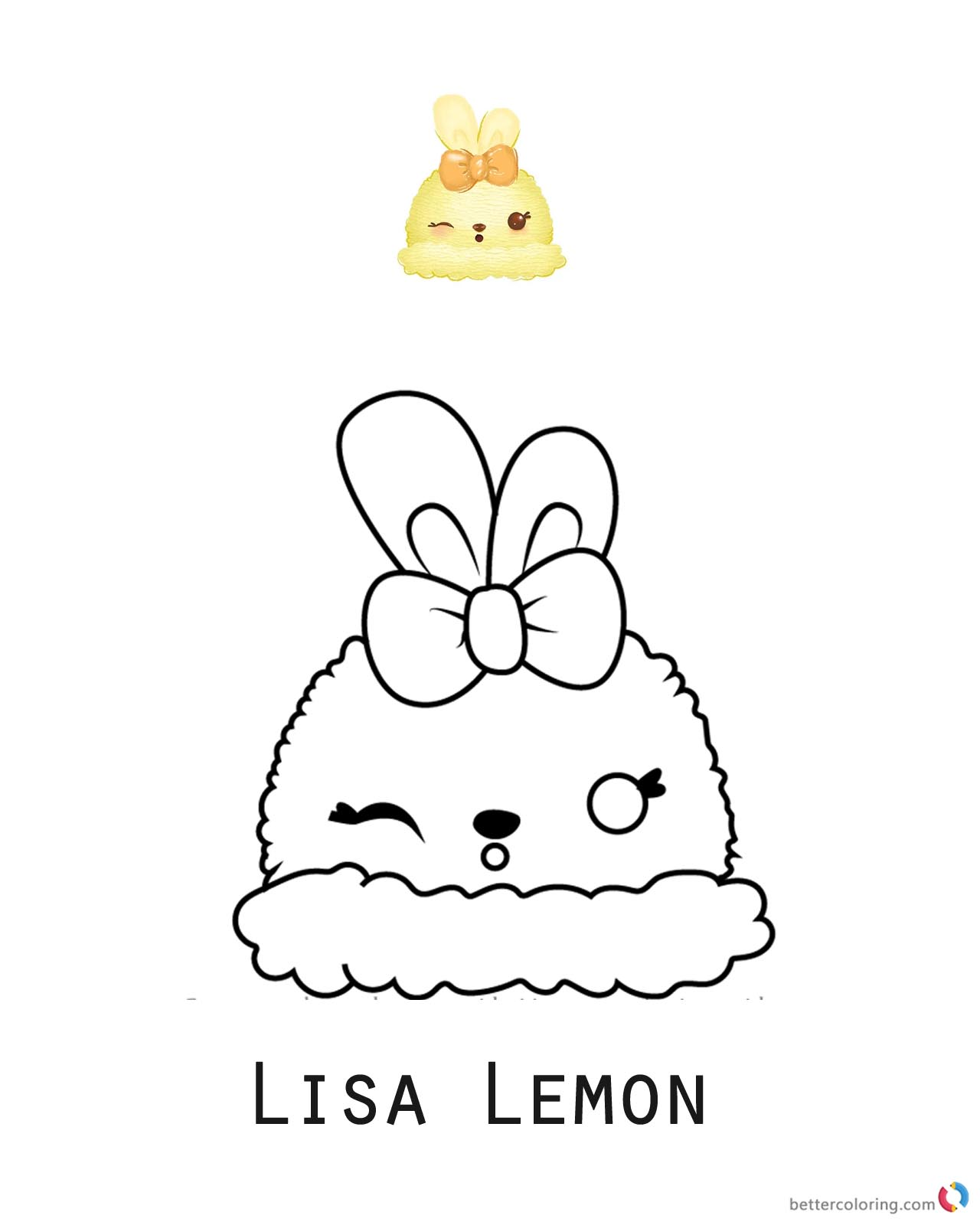 Lisa Lemon from Num Noms coloring pages printable
