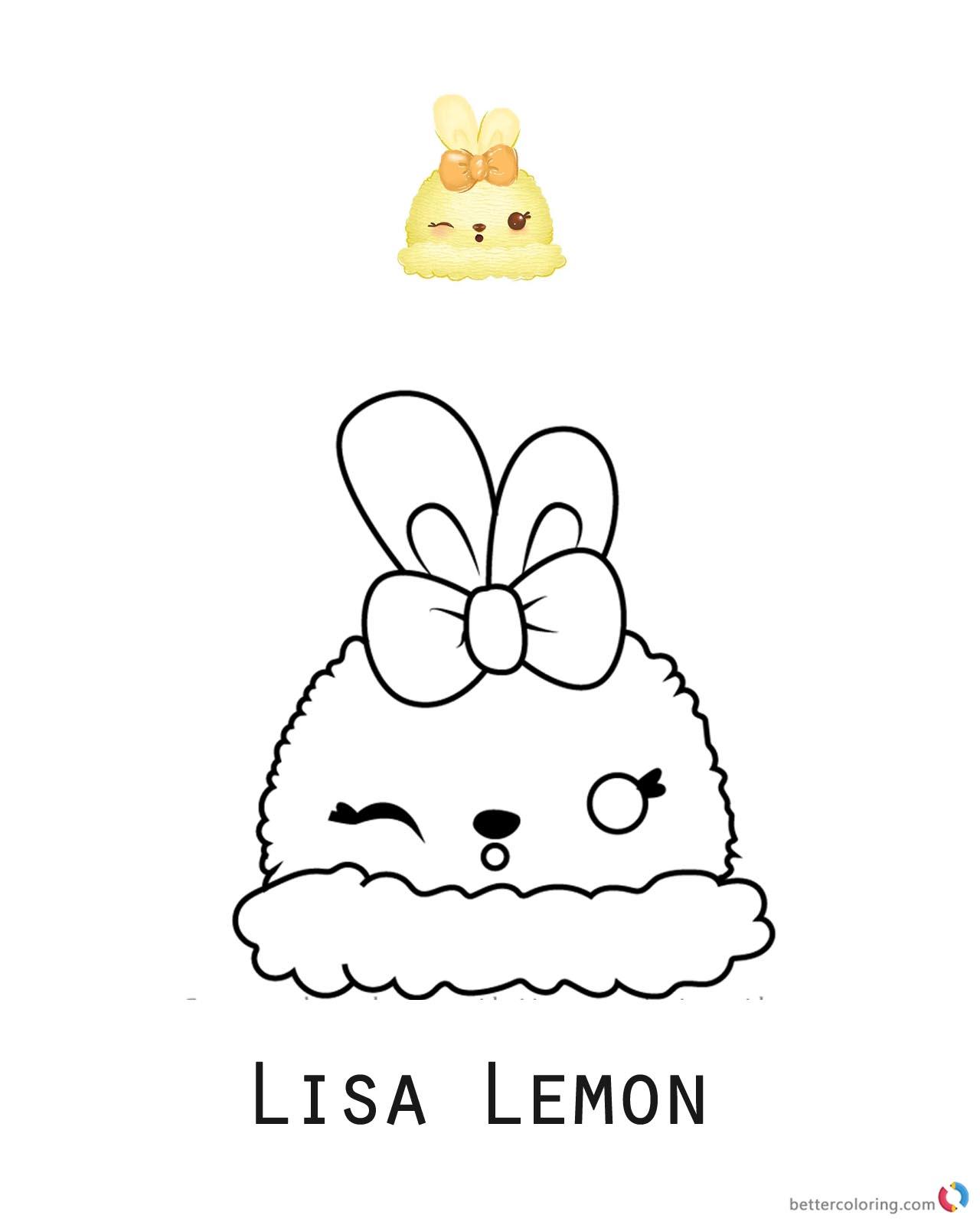 Lisa Lemon Num Noms Coloring Pages