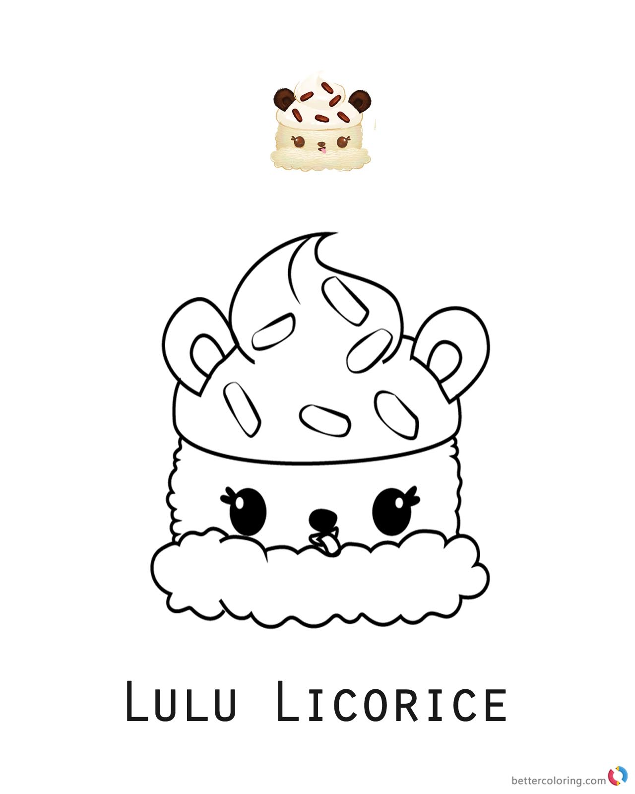 Lulu Licorice from Num Noms coloring pages printable