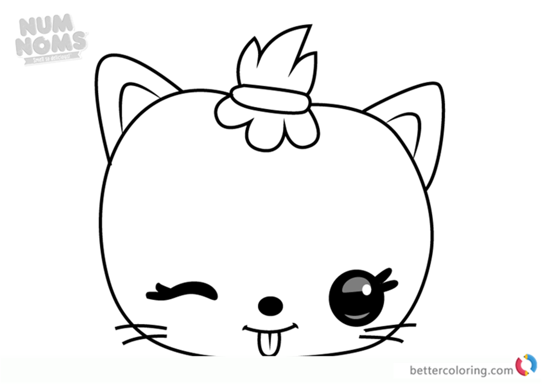 Mallow Jelly from Num Noms coloring pages printable
