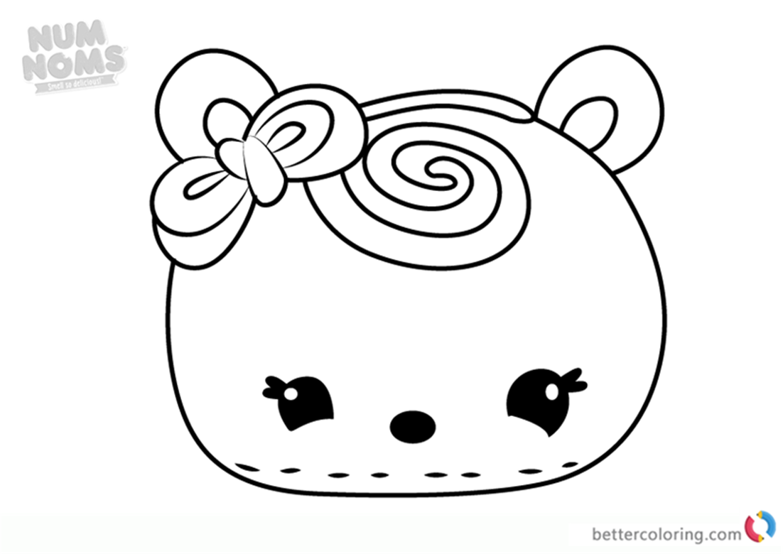 Mara Schino from Num Noms coloring sheet printable