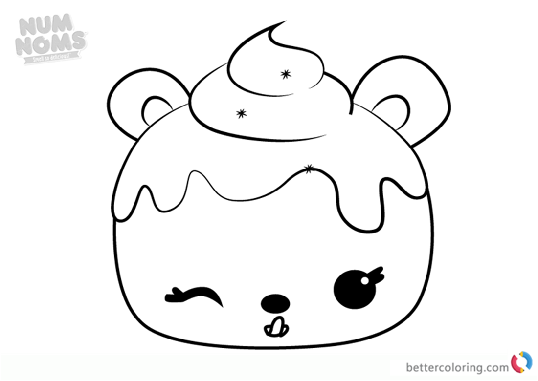 Mary Mulberry From Num Noms Coloring Pages Free Printable Coloring