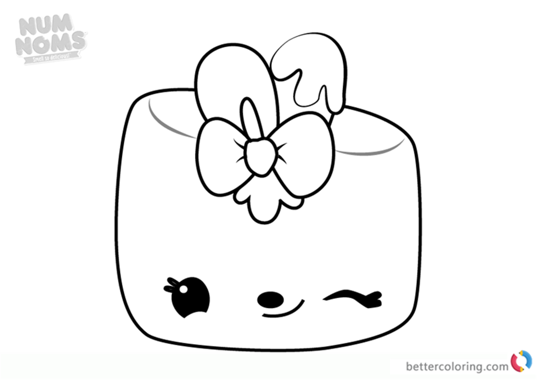 Maya Mallow from Num Noms Colouring Pages Series 3 Free