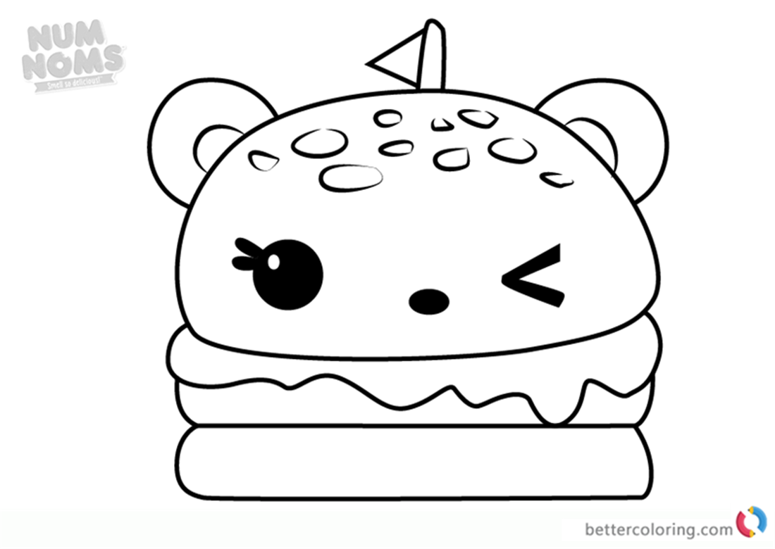 Melty Burger from Num Noms coloring pages printable