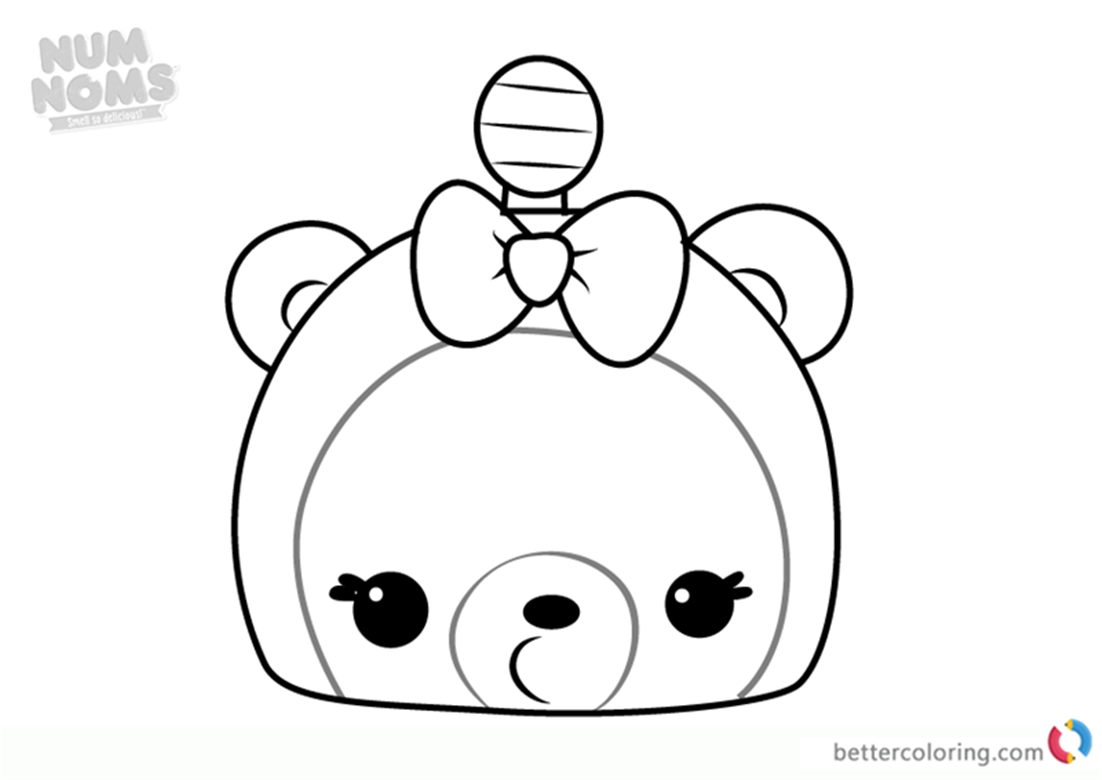 Mia Mango from Num Noms coloring pages printable