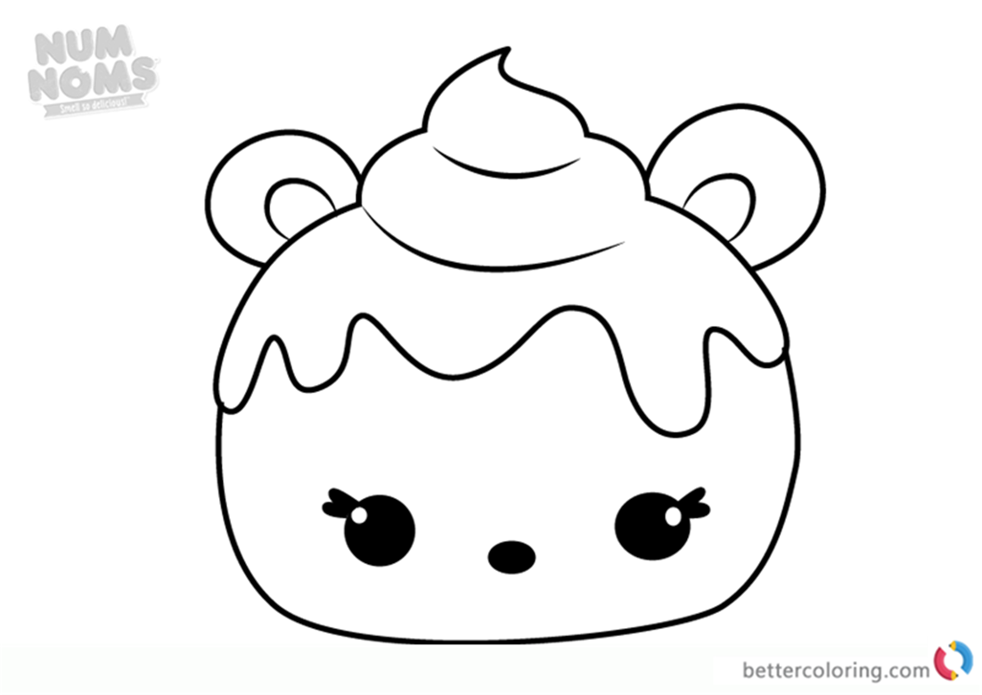 Mint Berry Num Noms Coloring Pages Series 2 Free