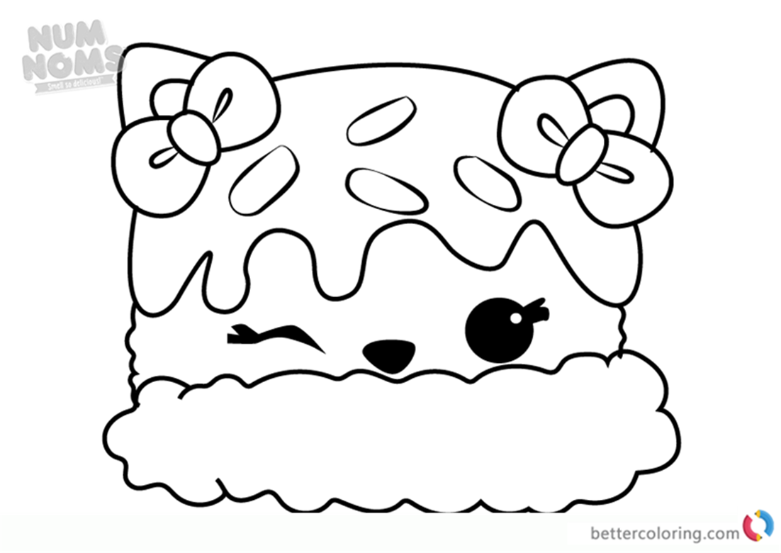 Num Noms Girls Printable Coloring Pages Worksheet Coloring Pages