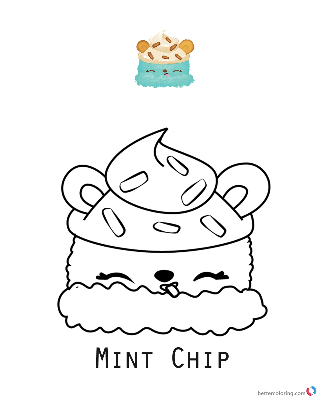 Minty Chip Num Noms Coloring Pages Series 1 Free Printable