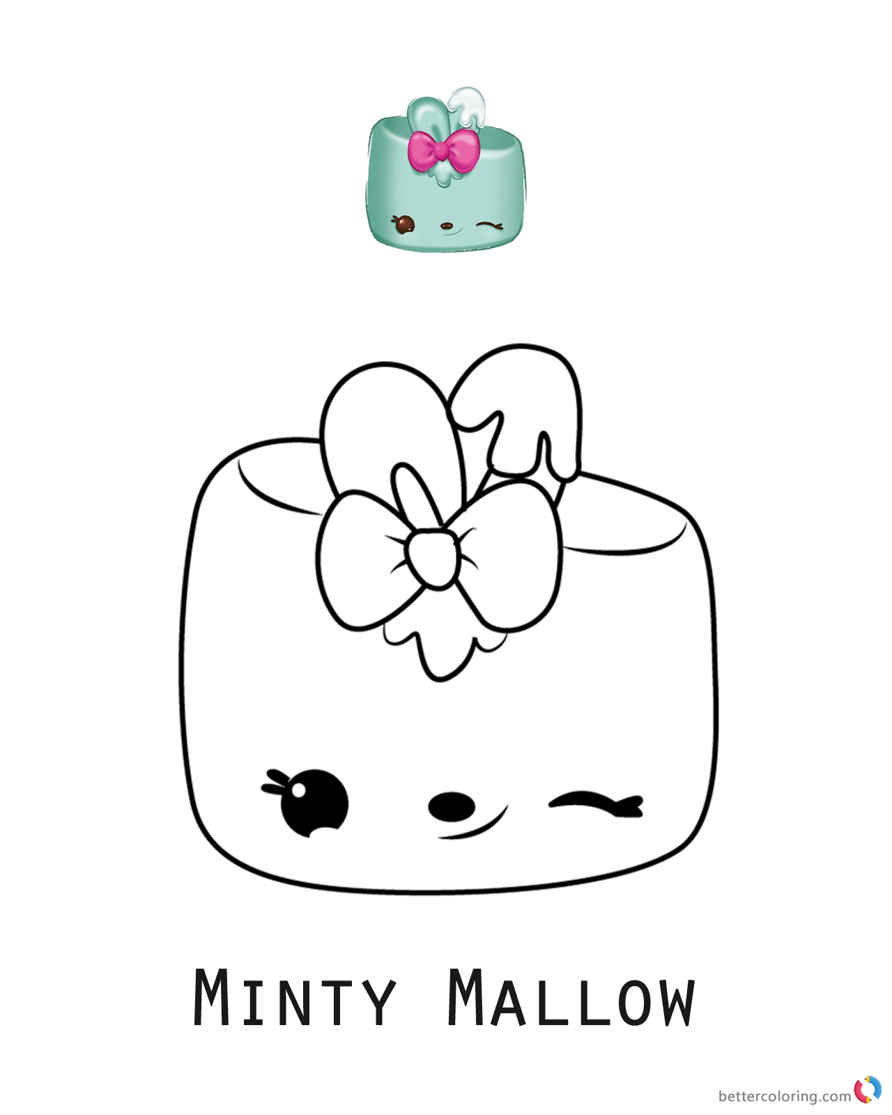 Minty Mallow from Num Noms coloring pages printable