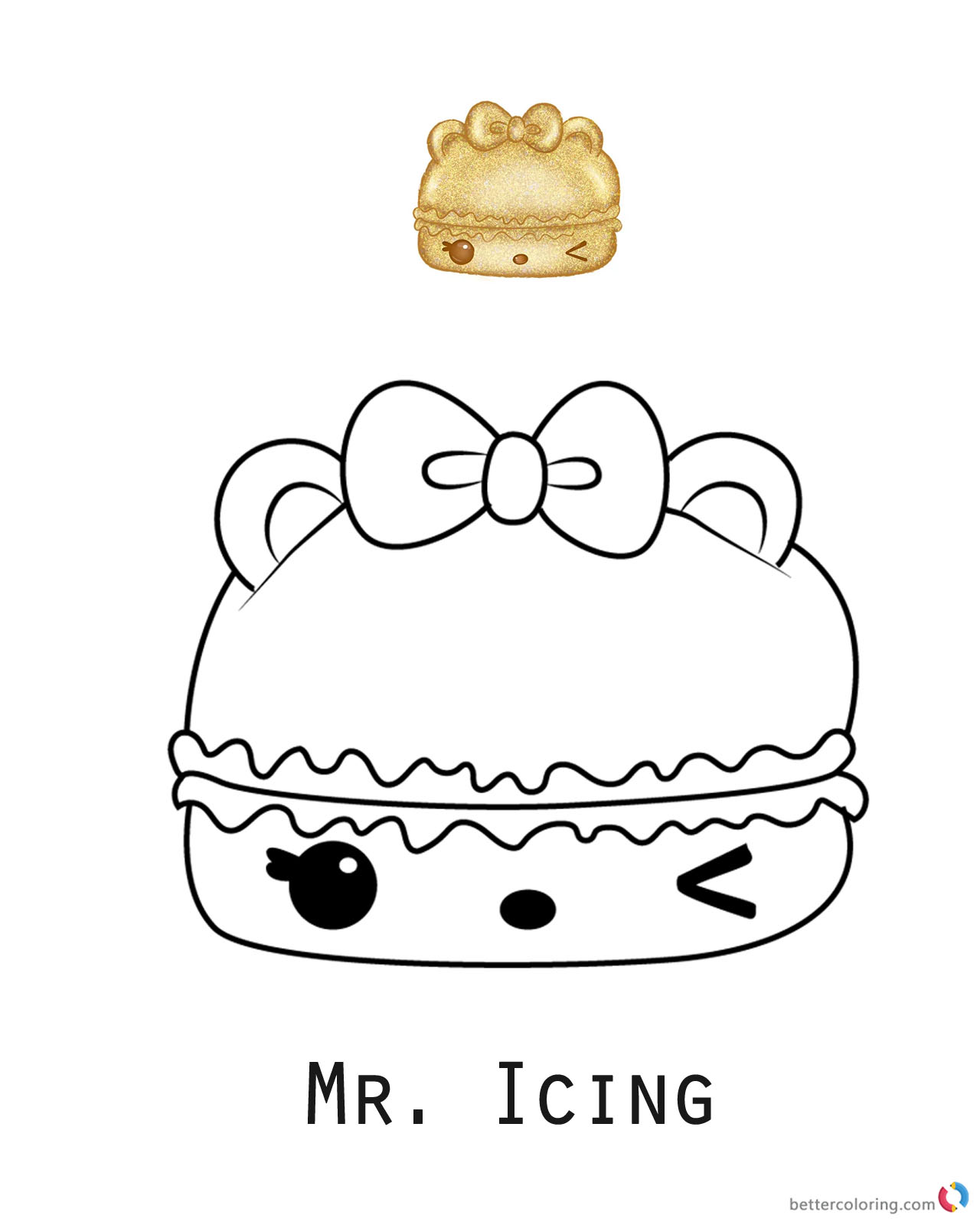 Mr Icing Num Noms Coloring Pages