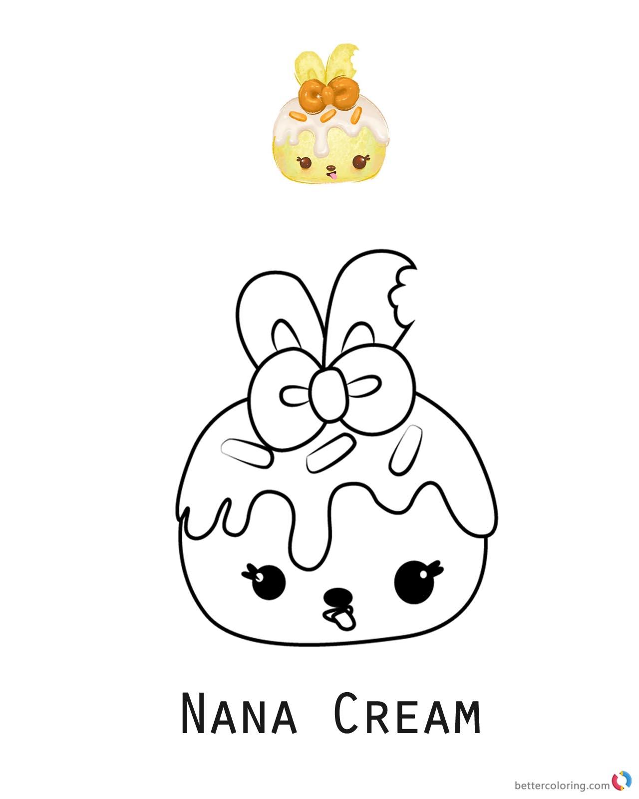 Nana Cream Num Noms Coloring Pages