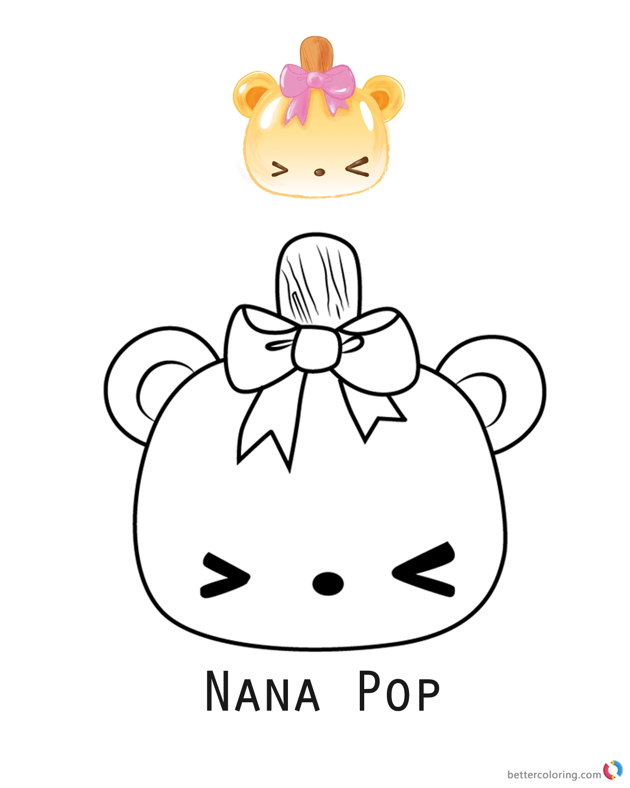 Nana Pop from Num Noms coloring pages printable