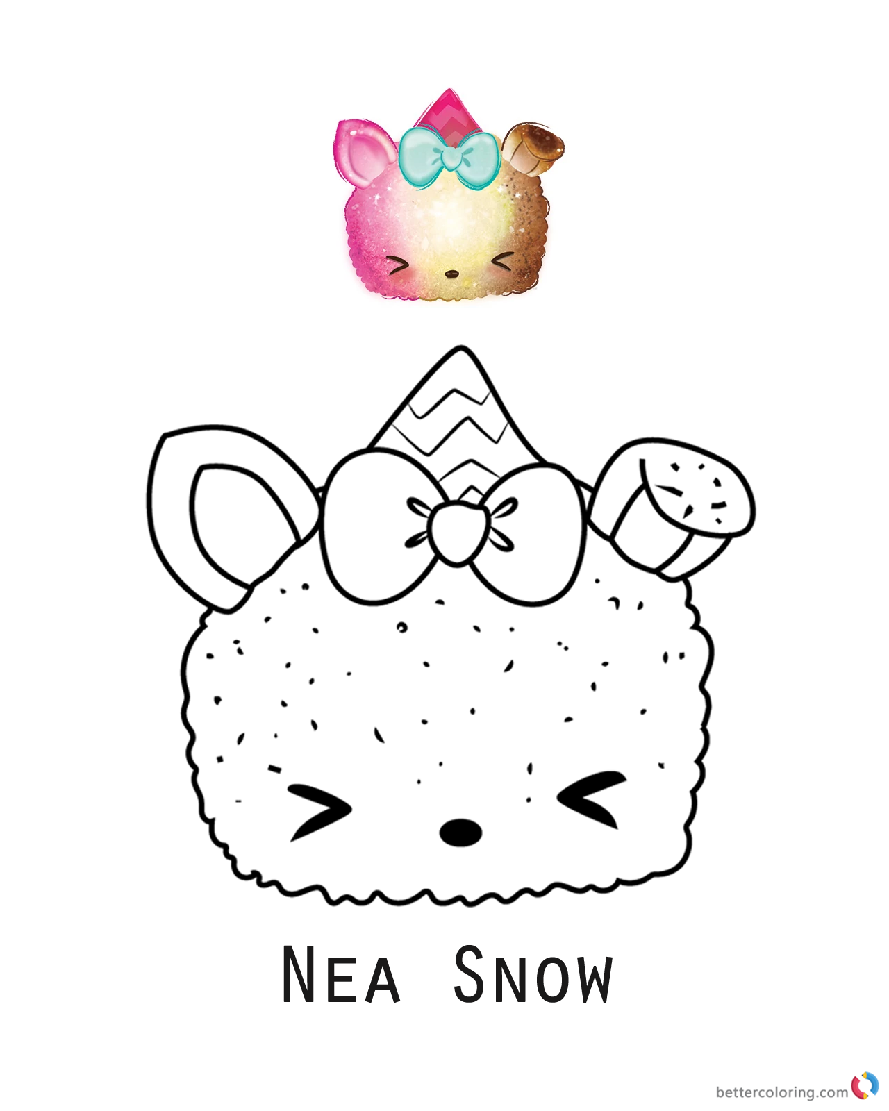 Nea Snow from Num Noms coloring pages printable