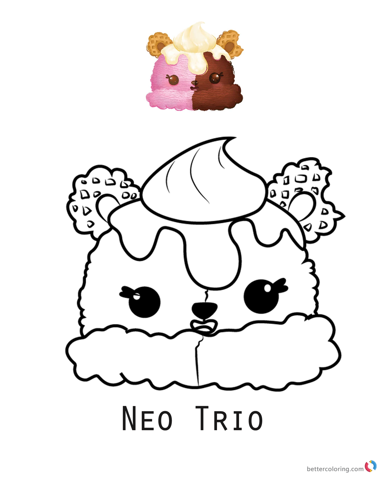 Num Noms Coloring Pages Neo Trio Free Printable Coloring Pages