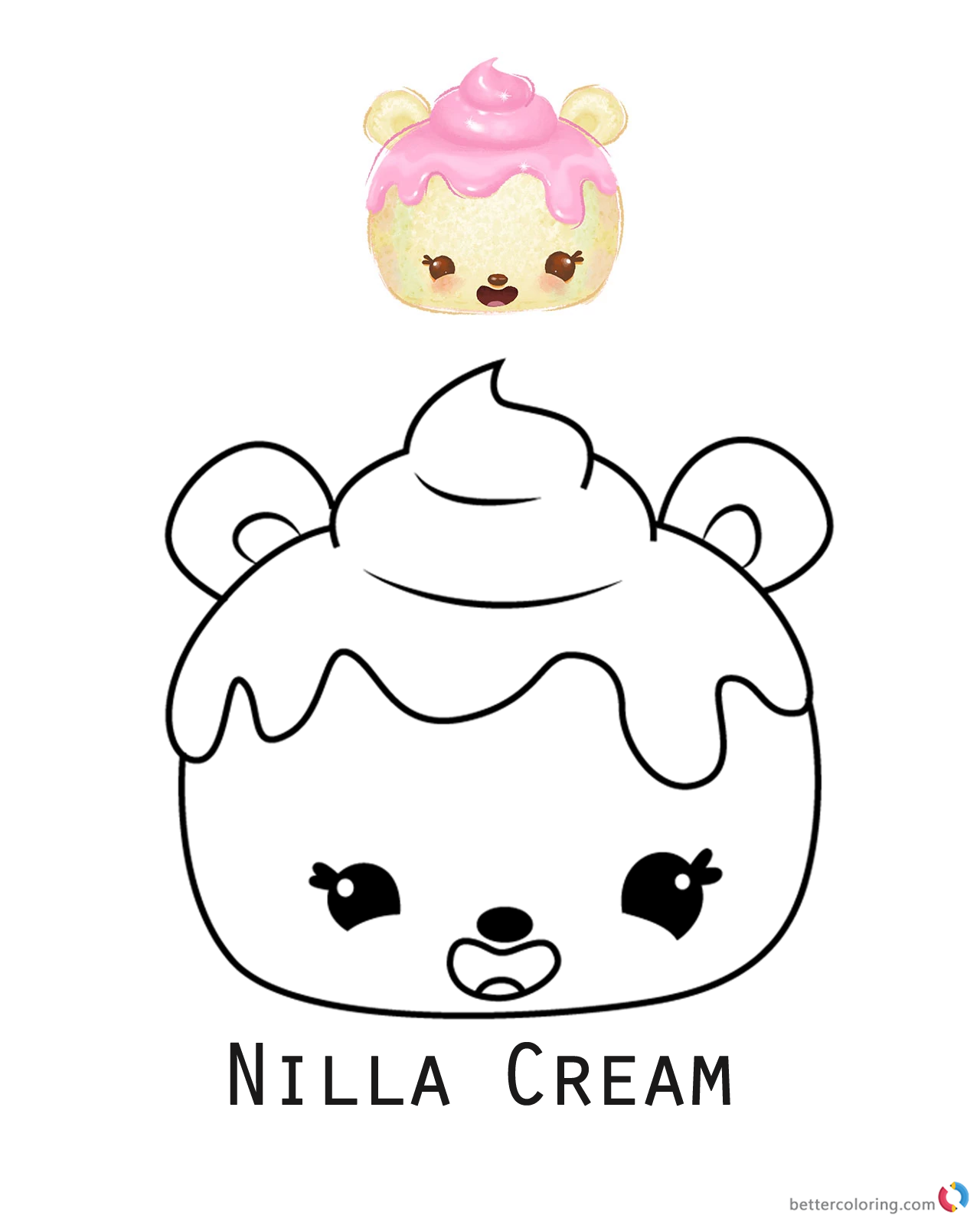 Nilla Cream from Num Noms coloring pages printable