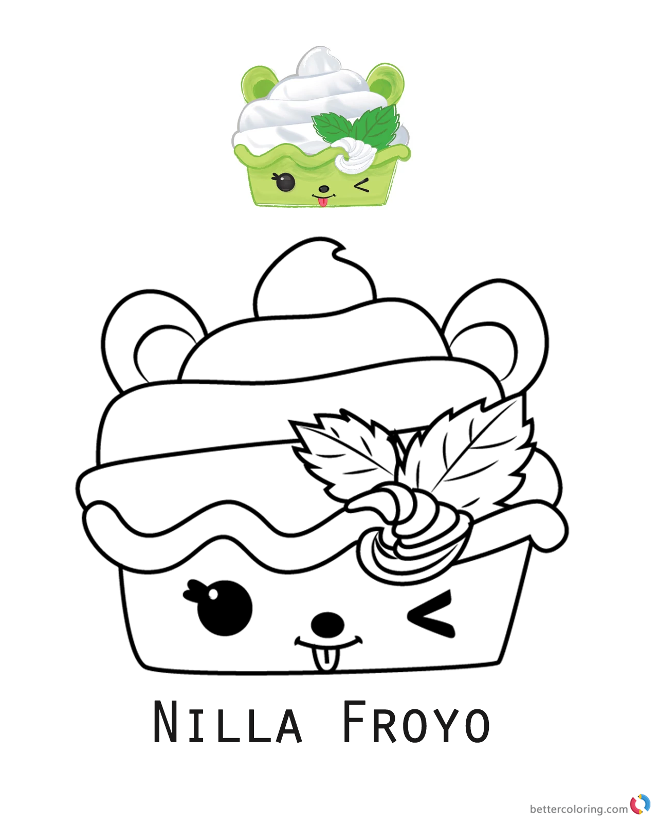 Num Noms Coloring Sheet Series