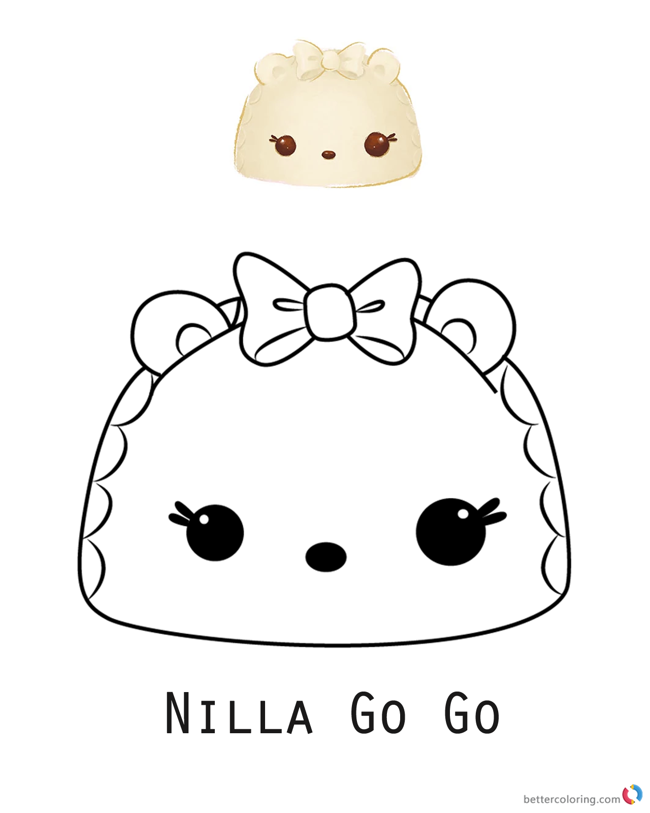 Num Noms Coloring Picture Nilla