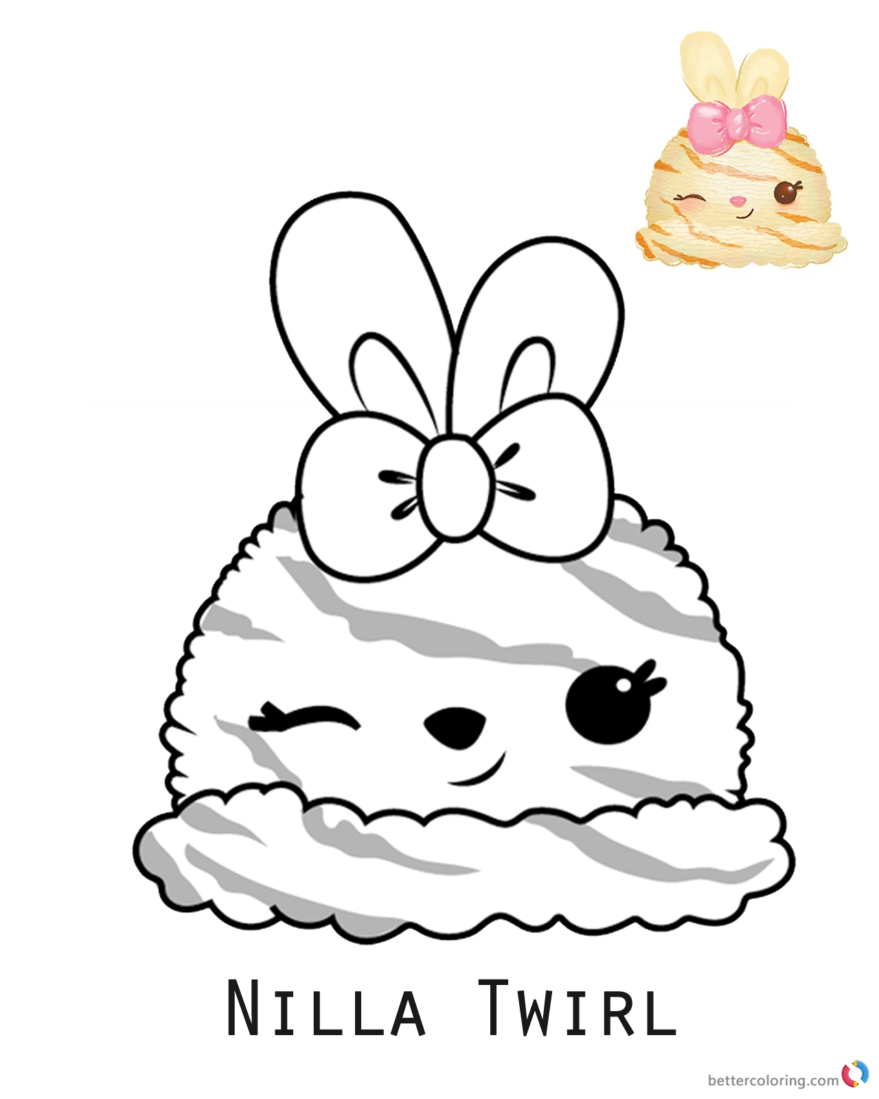 Num Noms Coloring Book Nilla Twirl Free Printable Coloring Pages