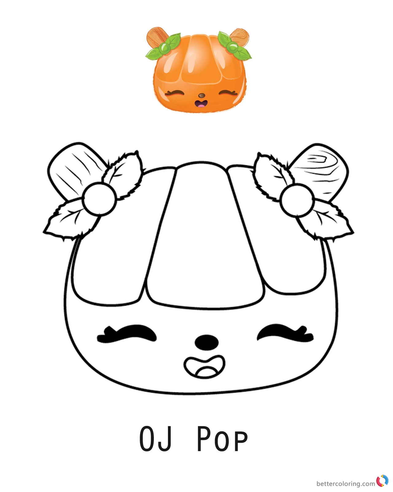 OJ Pop from Num Noms coloring pages printable