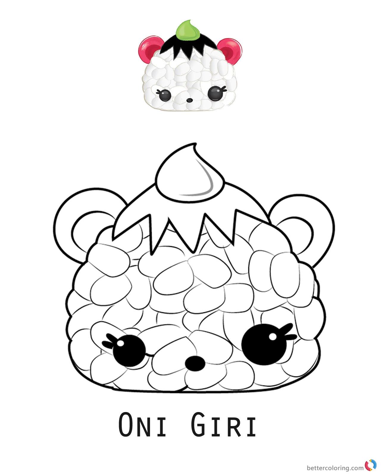 Oni Giri from Num Noms coloring pages printable