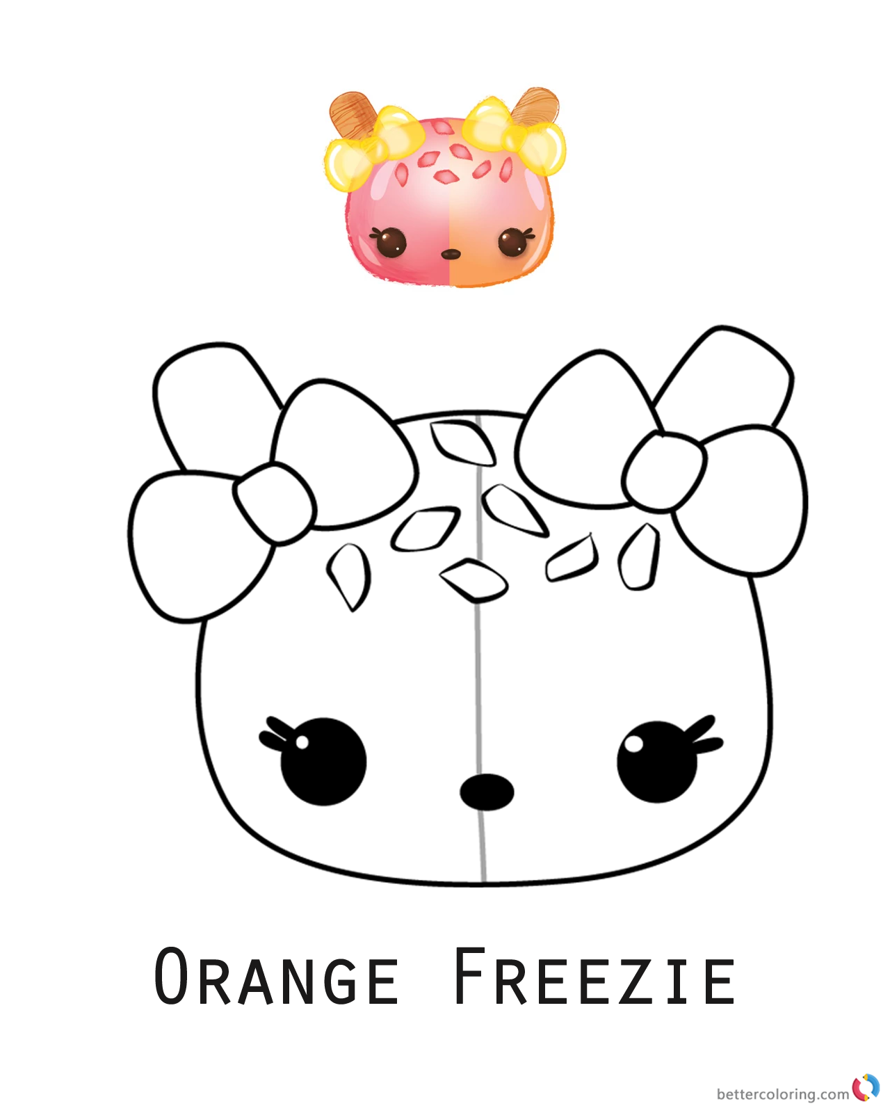 Orange Freezie from Num Noms coloring pages printable