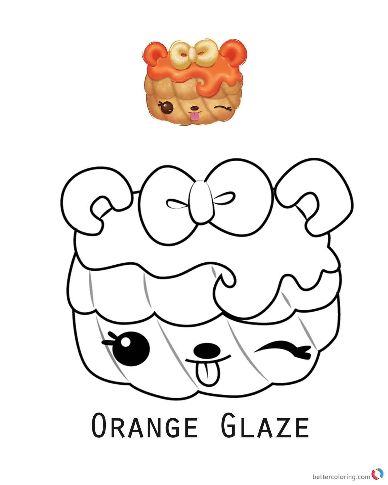 Orange Glaze from Num Noms coloring pages printable