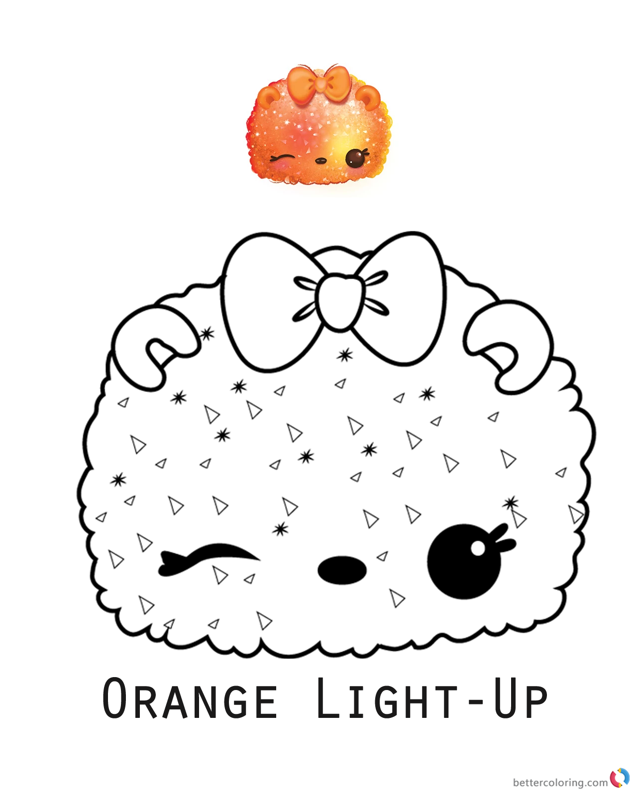 Orange Light-Up from Num Noms coloring pages printable