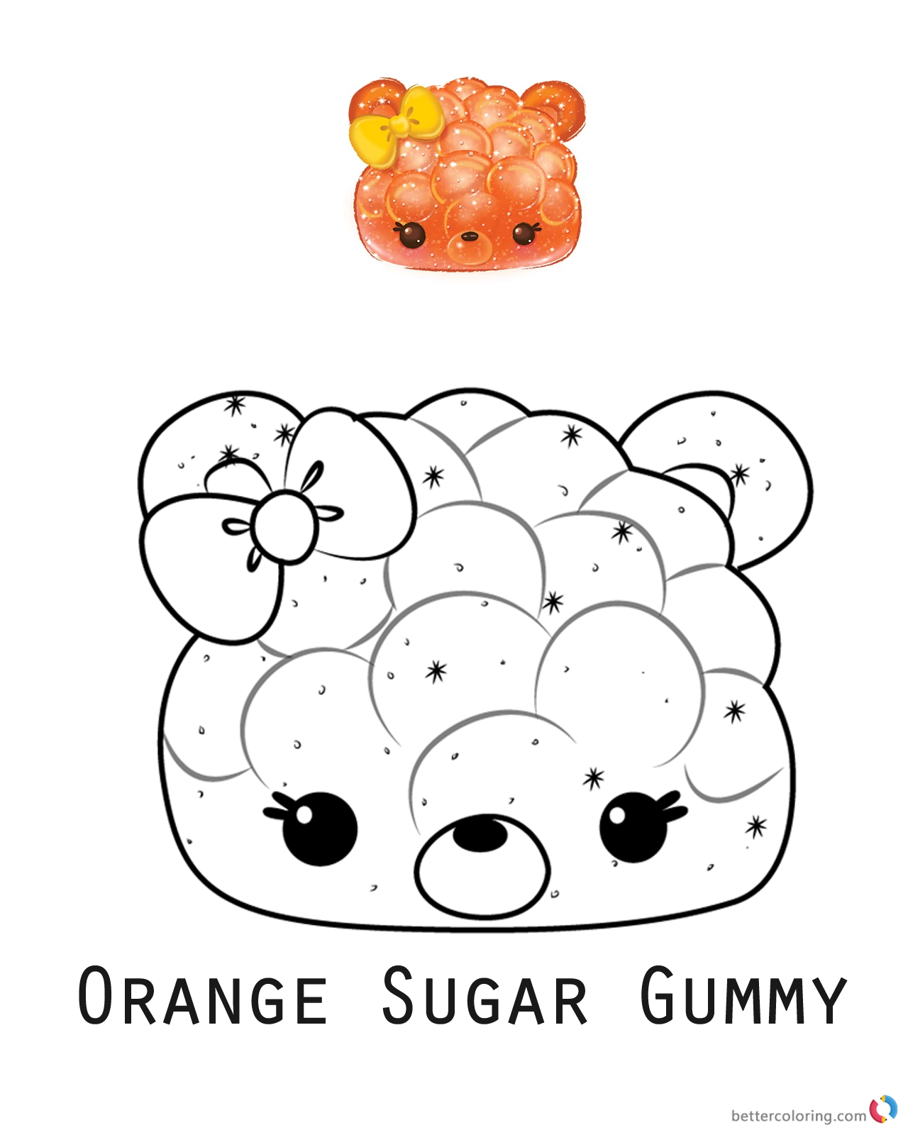 Orange Sugar Gummy from Num Noms coloring pages printable