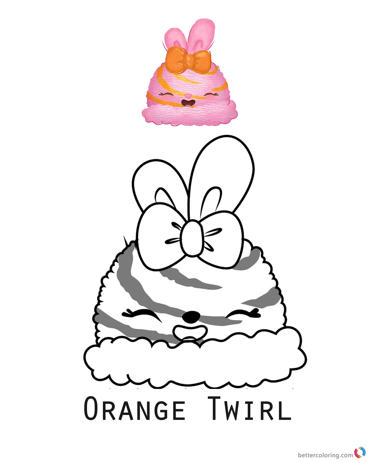 Num Noms Coloring Pages Series 1 Orange Twirl Free Printable