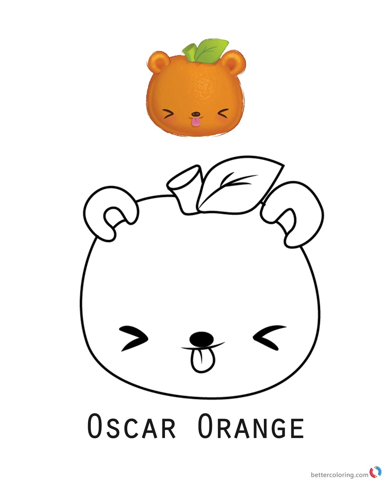 Orange slice coloring pages