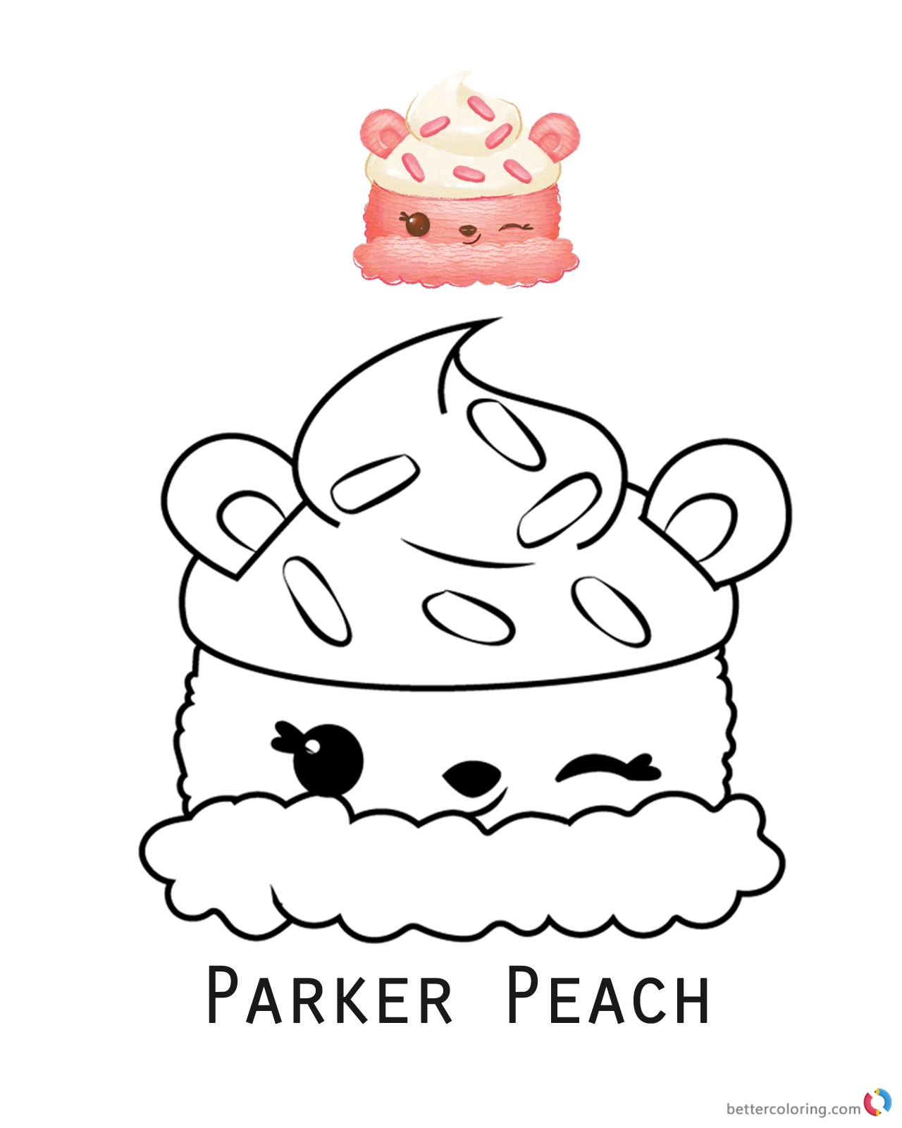Parker Peach from Num Noms coloring pages printable