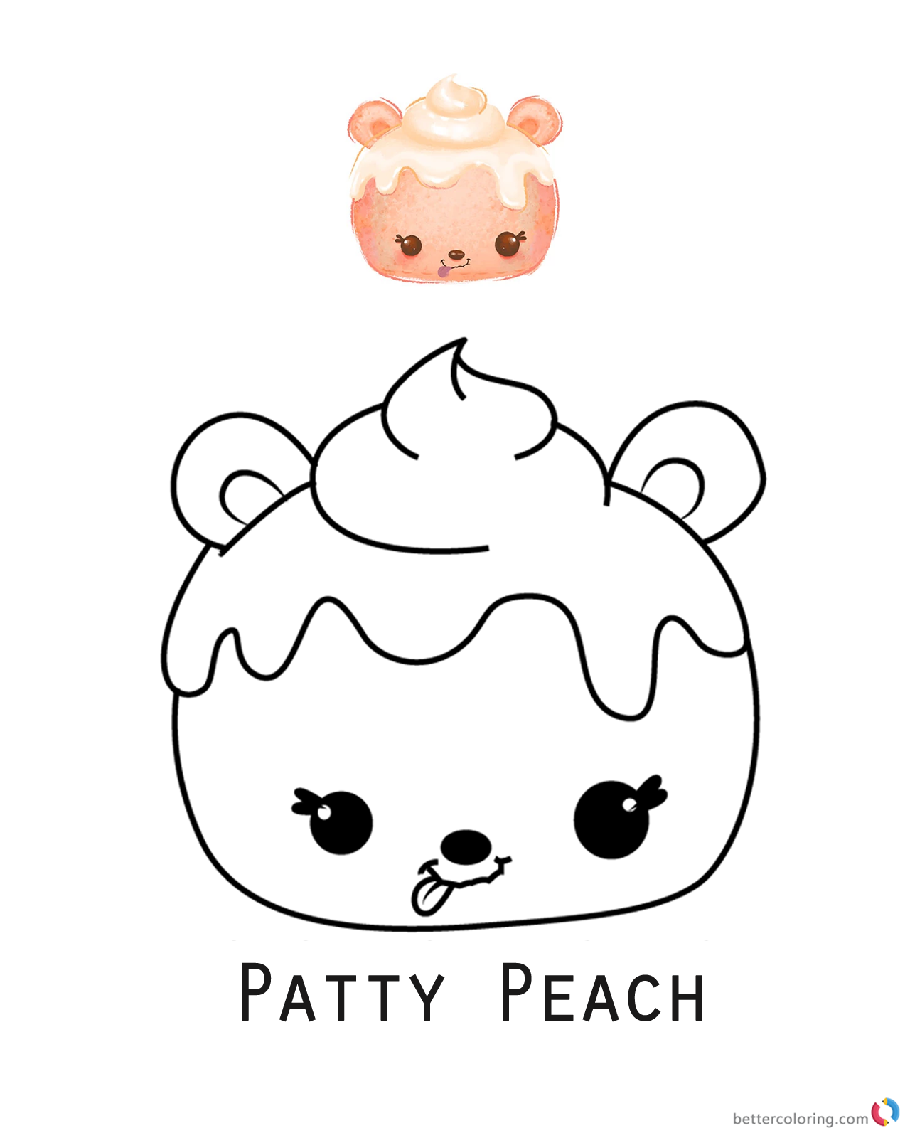 Num Noms Coloring Pages Series 1 Patty Peach Free Printable