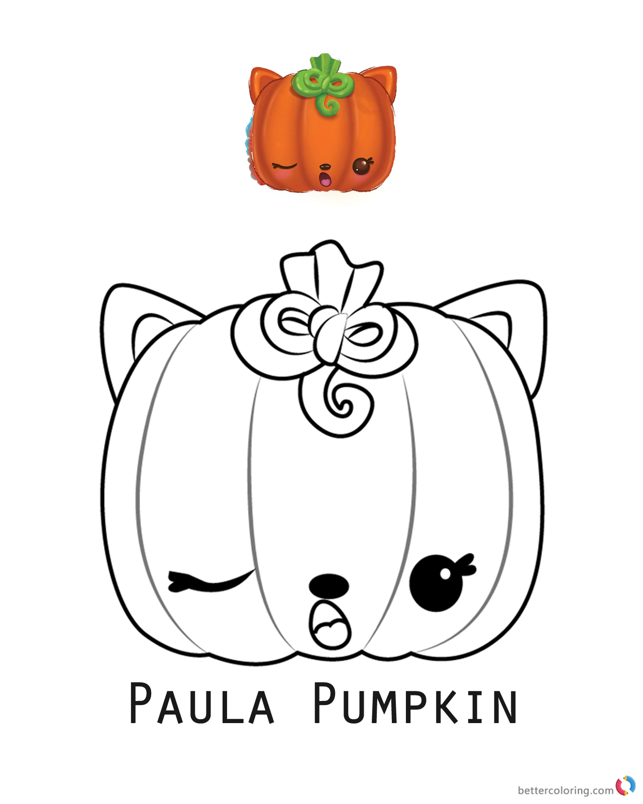 Paula Pumpkin from Num Noms coloring pages printable