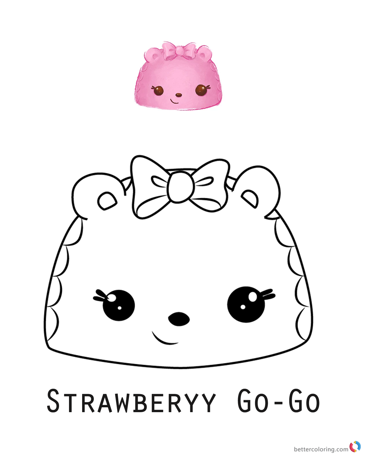 Num Noms Coloring Pages Series 1 Strawberry Go Go Free