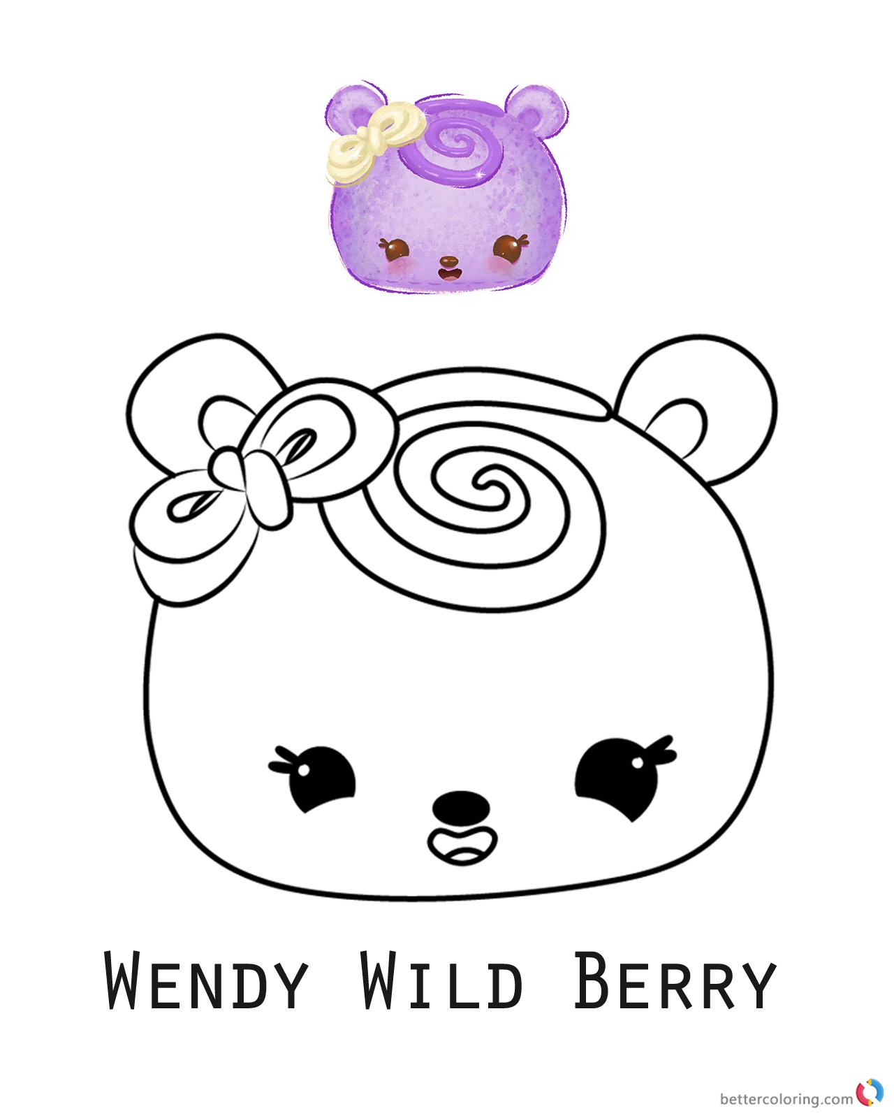Num noms coloring pages series 1 wendy wild berry free for Num noms coloring pages free