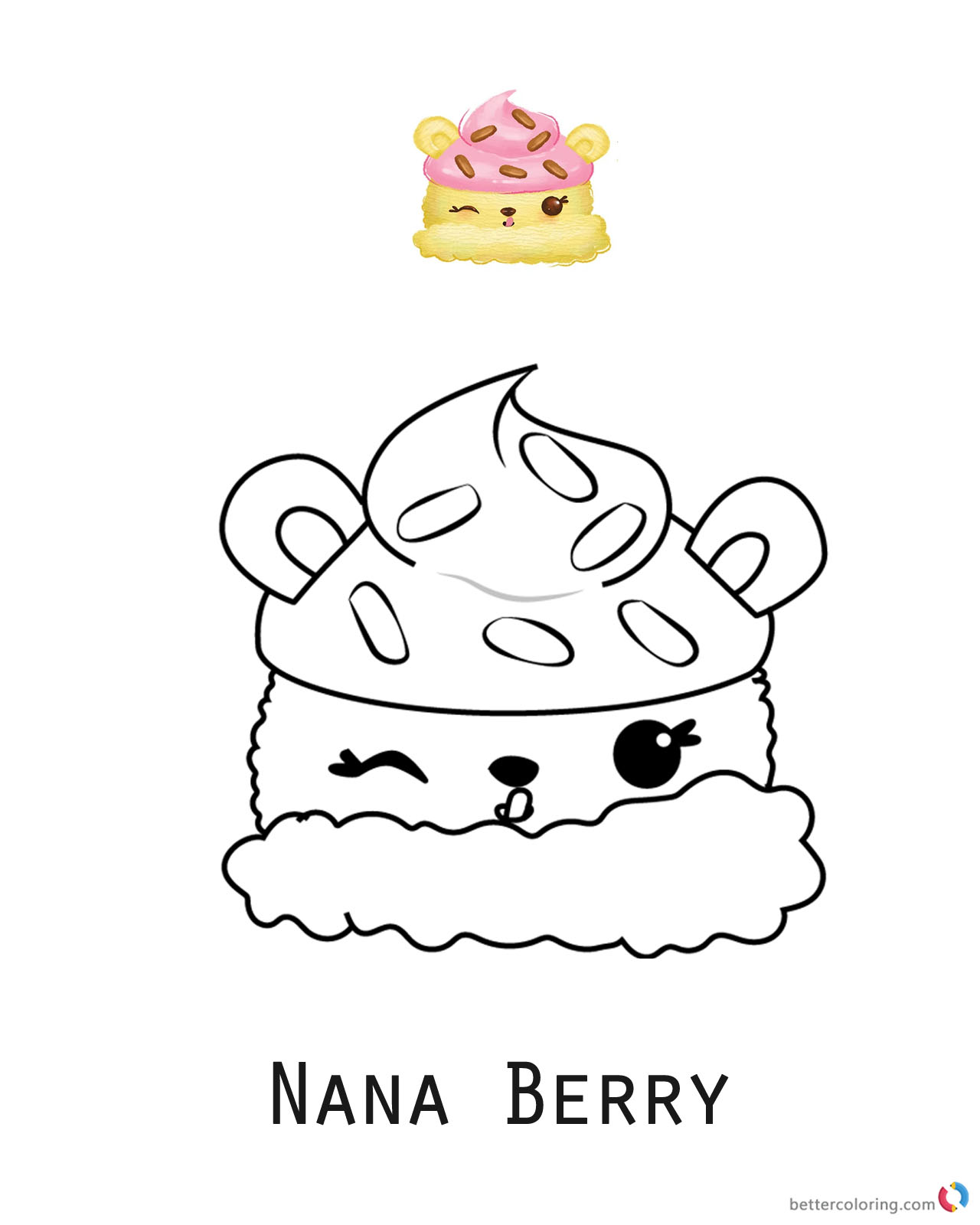 Nana Berry from Num Noms coloring sheet printable