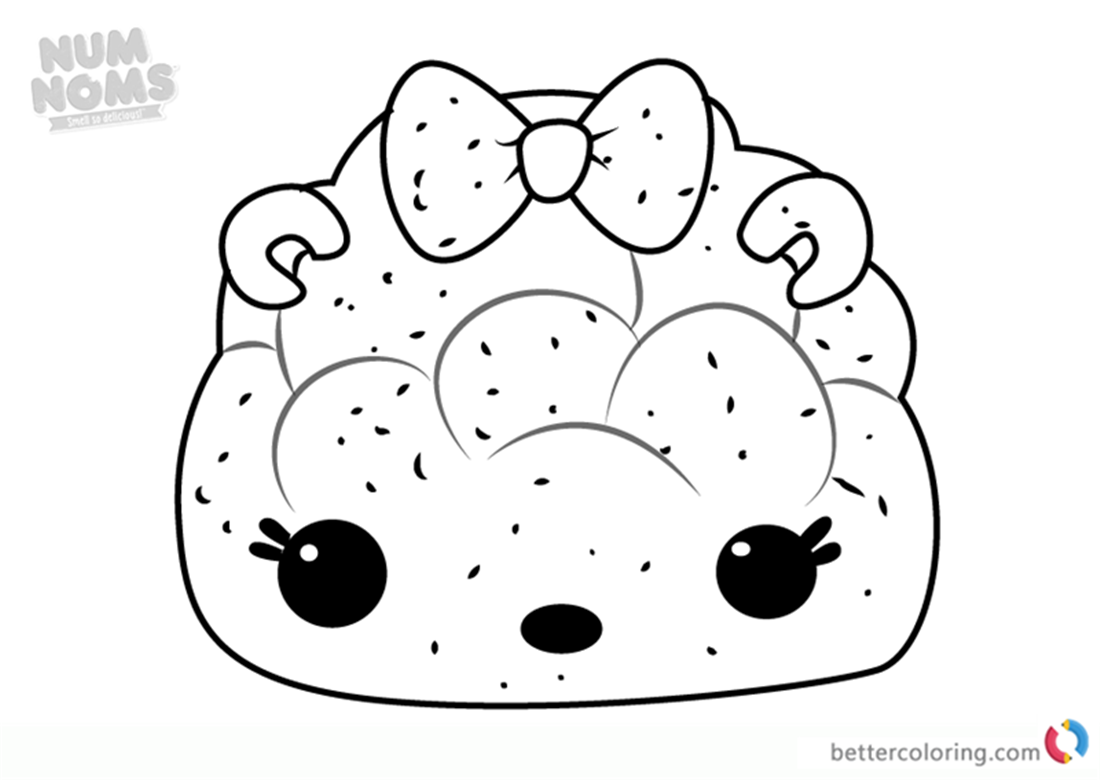 Mintee Light-Up from Num Noms coloring pages printable