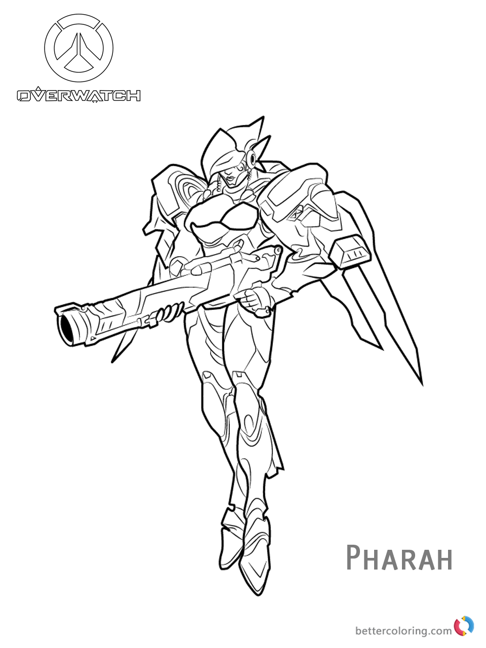 Pharah from Overwatch Coloring