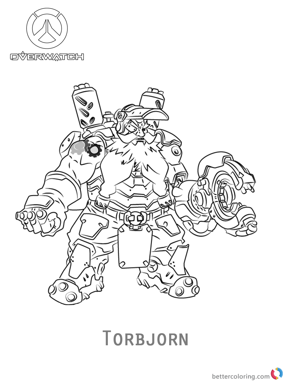 Torbjorn From Overwatch Coloring Pages Free Printable