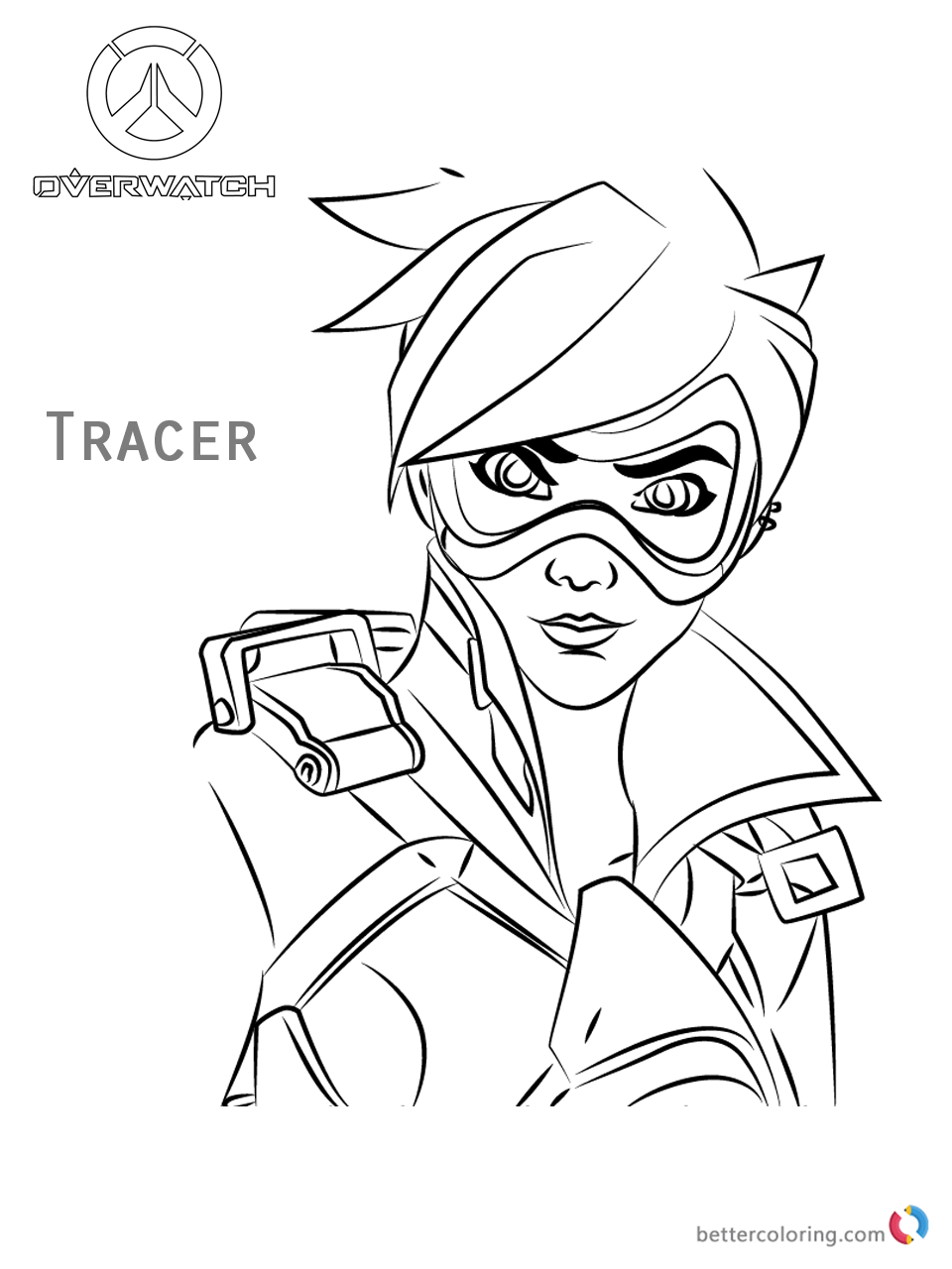 tracer face from overwatch coloring pages