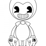 Bendy And The Ink Machine Coloring Pages Of Boris