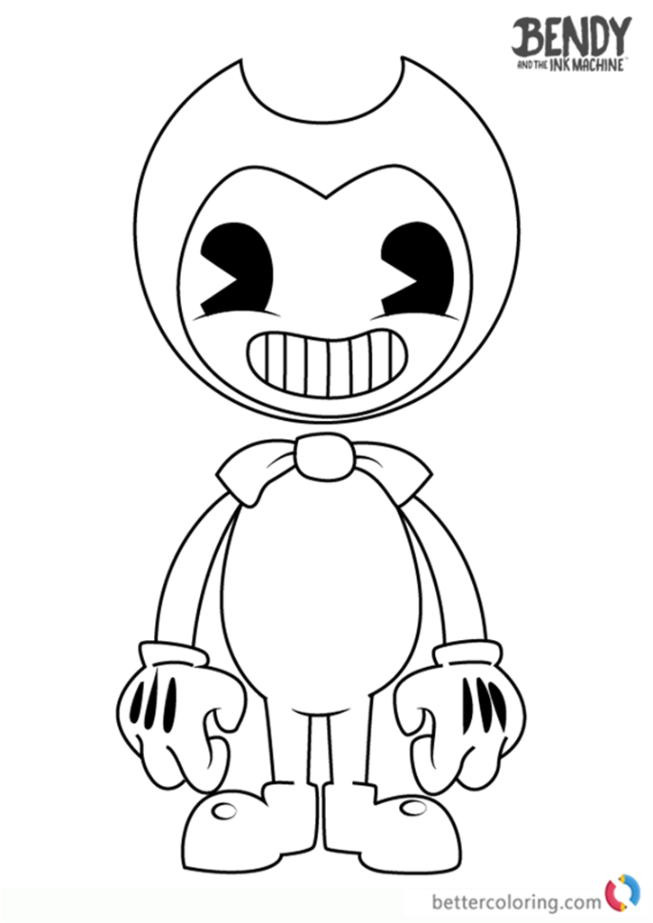 bendy and the ink machine coloring pages bendy and the ink machine coloring pages free printable